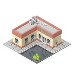 Isometric supermarket building vector image