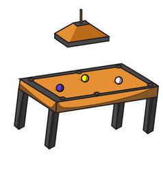 light pool table pool table variation vector image