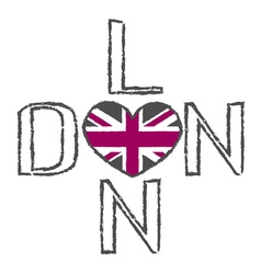 London City t shirt flag heart vector