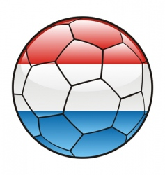 Luxembourg flag on soccer ball vector