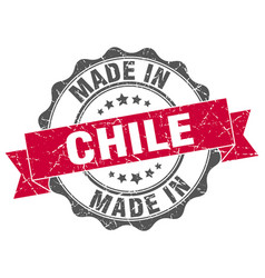 made in chile round seal vector image vector image