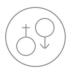 Male and female symbol line icon vector