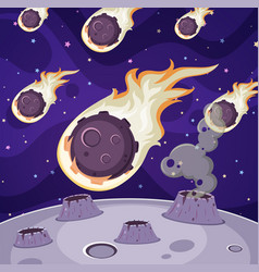 Many comets in dark space vector