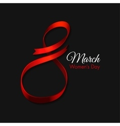 March 8 Ribbon vector image