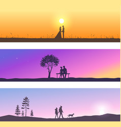 nature and couples vector image