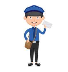 of postman vector image