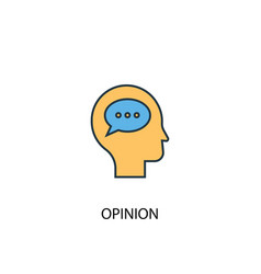 Opinion concept 2 colored line icon simple yellow vector