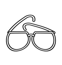 outline sunglasses fashionable beach sunny vector image
