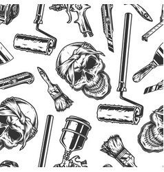 Painting monochrome vintage seamless pattern vector