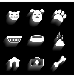 Pet icons 2 vector