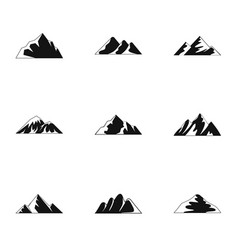 Plateau icons set simple style vector