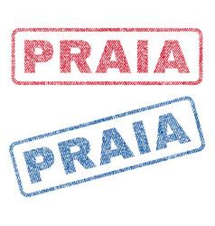 Praia textile stamps vector