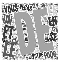 Quel Mariage sans Trop Depenser text background vector