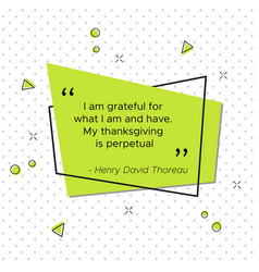 quote of henry david thoreau american poet vector image