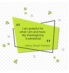 Quote of henry david thoreau american poet vector
