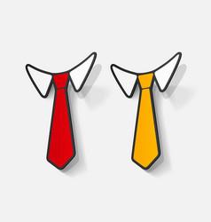 Realistic paper sticker necktie vector