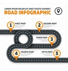 Road map street highway modern business vector