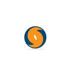 round circle s initial logo vector image