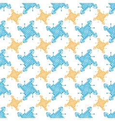 Seamless indian pattern with geometric ornate vector image