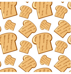 Seamless pattern tile cartoon with bread vector