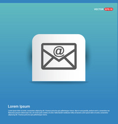 Send mail icon - blue sticker button vector