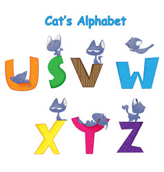 set of english alphabet vector image