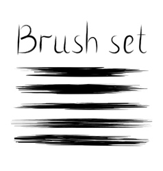 set of grunge brush strokes Element for vector image
