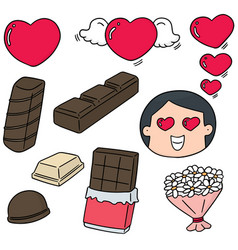 set of valentine day vector image