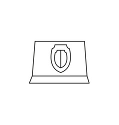 shield laptop icon vector image
