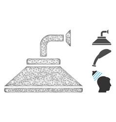 shower head polygonal web mesh vector image