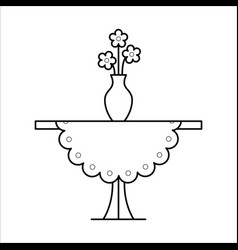 small table home furniture lineart design vector image
