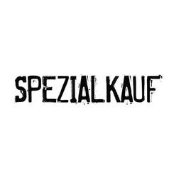Special buy stamp in german vector