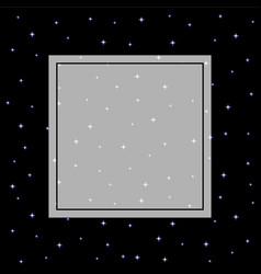 Starry night sky banner on black background vector