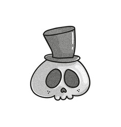 stippled funny skull vector image