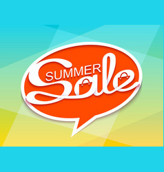 summer sale banner with calligraphic inscription vector image