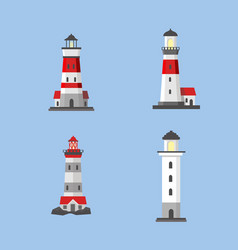 the image of the lighthouses vector image
