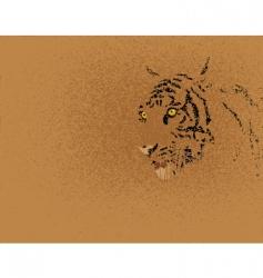 Tiger grunge vector