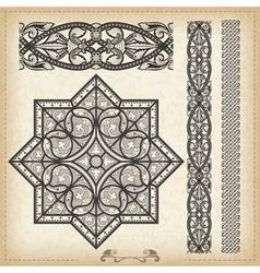 Vintage baroque border vector