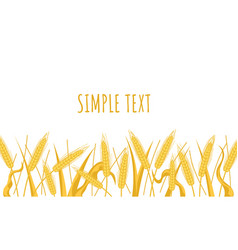 wheat spikes landscape field banner poster vector image