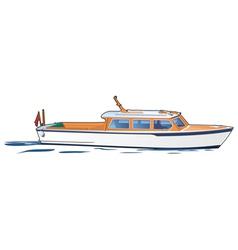 White boat vector