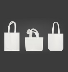 white tote shopping eco bags vector image
