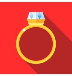 Women wedding ring icon flat style vector