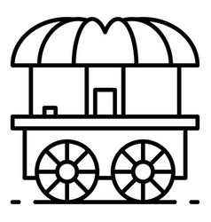 Wood street shop cart icon outline style vector