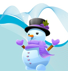 abstract iceman vector image vector image