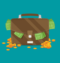 business and finance concept in flat style vector image vector image