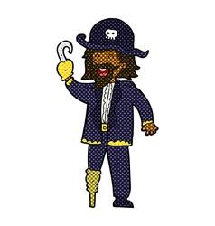Comic cartoon pirate captain vector