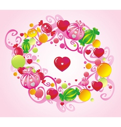 curls and sweets vector image