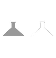 flask set icon vector image vector image