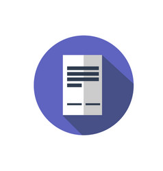 flat document icon folder with business files vector image