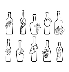 Icons alcoholic beverages vector